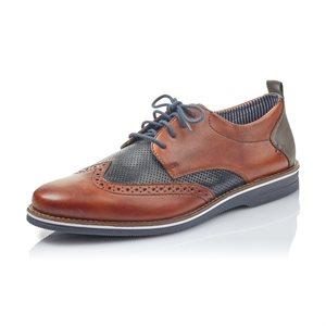 Brown / Blue Oxford Shoe 12532-24