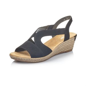 Black Wedge Sandal 62429-00