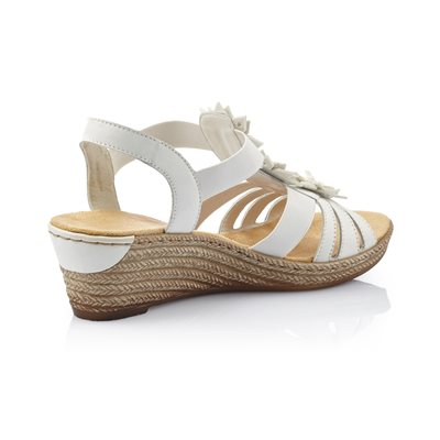 White Wedge Sandal 62461-80