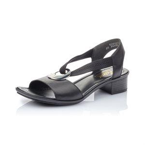 Black High Heel Sandal 62662-01