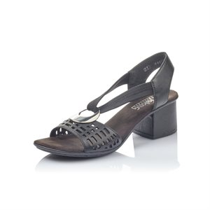 Black Heel Sandal 64675-00