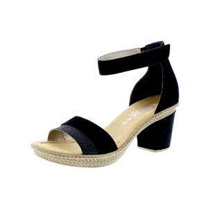 Black High Heel Sandal 66534-90