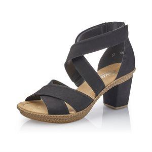 Black Heel Sandal 66579-00