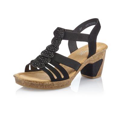 Black Heel Sandal 69702-00