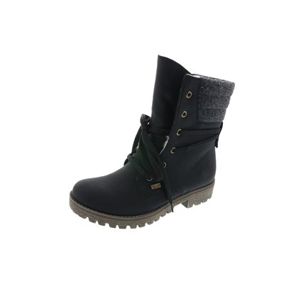 Black Lace Waterproof Winter Boot 78531-00