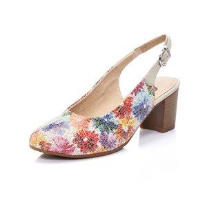 Multi Color Heel Shoes D0818-90