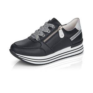 Black Laced Shoe D1312-01