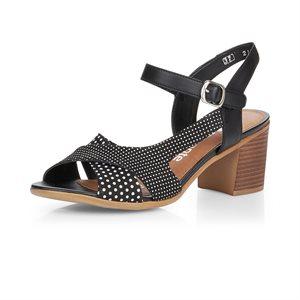 Black / Pattern High Heel Sandal D2151-