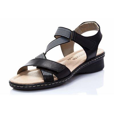 Sandale Ajustable, Noire D2757-01