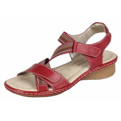 Adjustable Sandal, Red