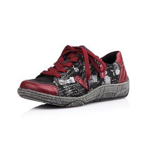 Black Combination Orthotic Friendly Shoes D3808-04