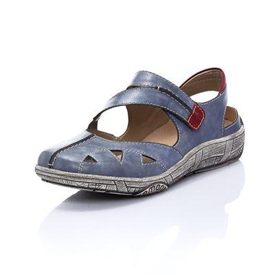 Blue Orthotic Friendly Sandal Shoe D3814-14