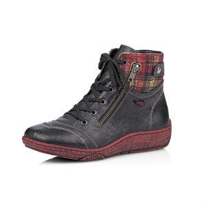 Black / Red Lace Bootie D3874-03