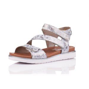Silver Velcro Sandal D4057-42