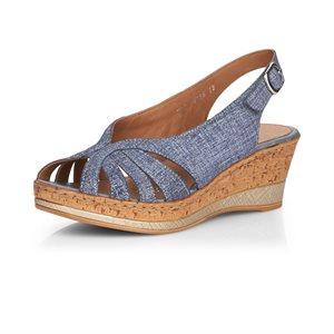 Sandale à talon haut Bleue D4756-12
