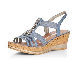 Sandale à talon haut Bleu D4759-14