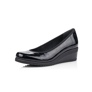 Black Wedge Heel Shoe D5500-03