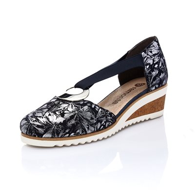 Blue Wedge Sandal Shoe D5502-14