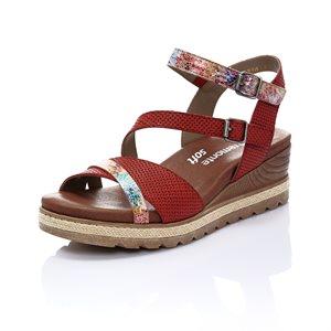 Red Wedge Sandal D6356-33