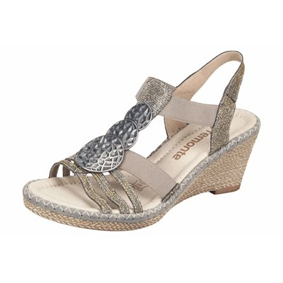 Grey Wedge Sandal D6747-91