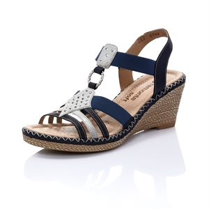 Blue Wedge Sandal D6768-14