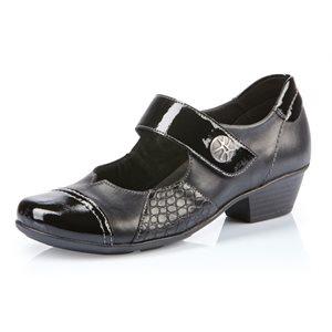 Black Orthotic Friendly Heel Mary Jane D7346-02