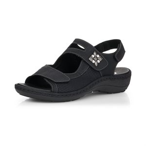 Black Sandal D7647-02
