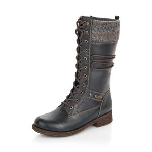 Black Waterproof Winter Boot D8077-02