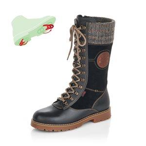 Black Waterproof Winter Boot D9375-01