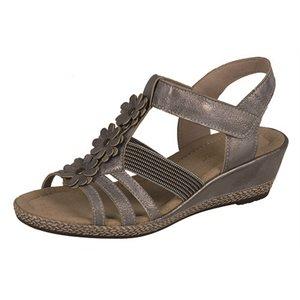 Sandale Talon Compensé, Grise K3366-90