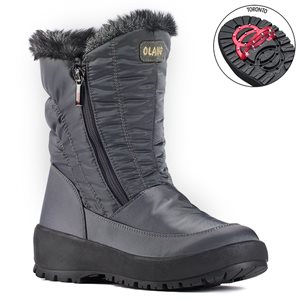 Grey boot with pivoting grip Monica
