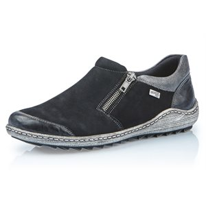 Black Orthotic Friendly Loafer R1403-02