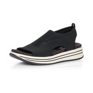 Black Platform Sandal R2955-02