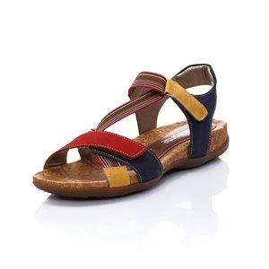 Sandale Ajustable, Rouge Combo R3257-33