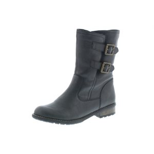 Black Winter Boots Stretchable Ankle R3321-45