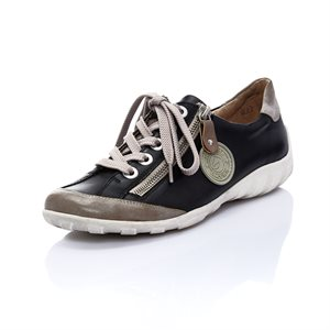 Black Orthotic Friendly Shoes R3443-01