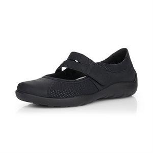 Black Orthotic Friendly Shoes R3510-02