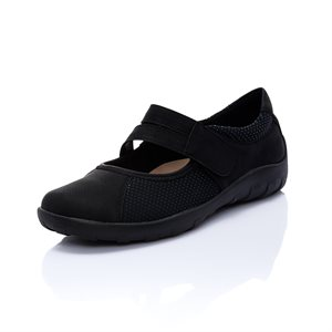Black Orthotic Friendly Shoes R3510-02