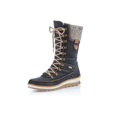 Black Waterproof Winter Boot R4371-02