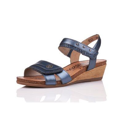 Melallic blue Wedge Sandal R4450-14