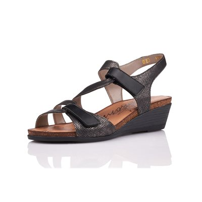 Sandal Heel Metallic-Black R4454-02