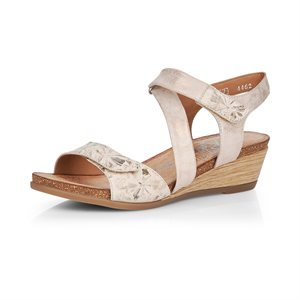 Beige Wedge Heel Sandal R4462-60
