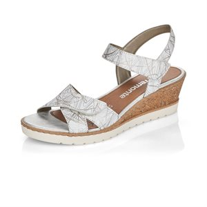White Wedge Heel Sandal R6252-80