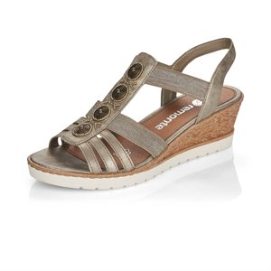 Grey Wedge Heel Sandal R6256-90