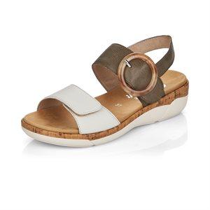 Grey / White Sandal R6853-54