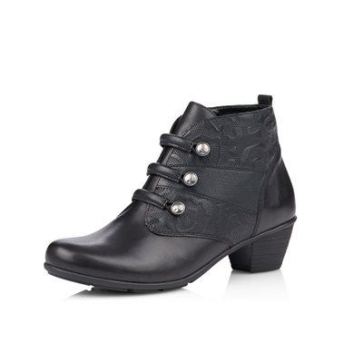 Black Heel Bootie R7577-01
