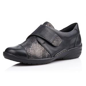 Black Velcro Shoe R7628-02