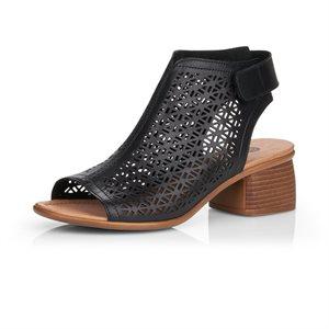 Black High Heel Sandal R8771-01