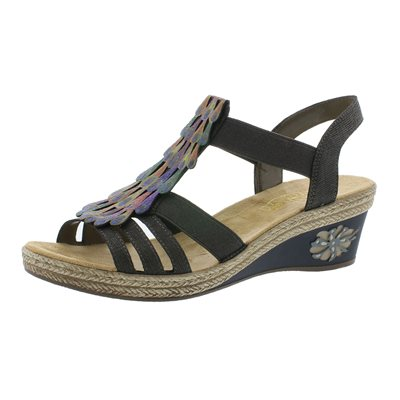 Multi Color Wedge Sandal V2426-45