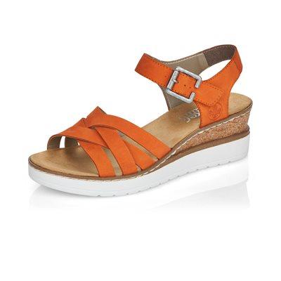 Orange Wedge Heel Sandal V3863-38